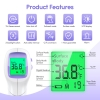 KKmier Forehead Thermometer for Adults No Contact Infrared Thermometer PC868-2